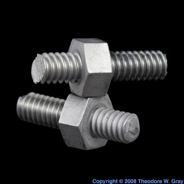Molybdenum Nut and bolt, broken