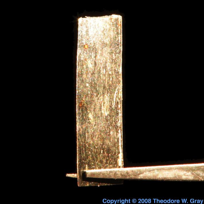 Technetium Technetium plated gold