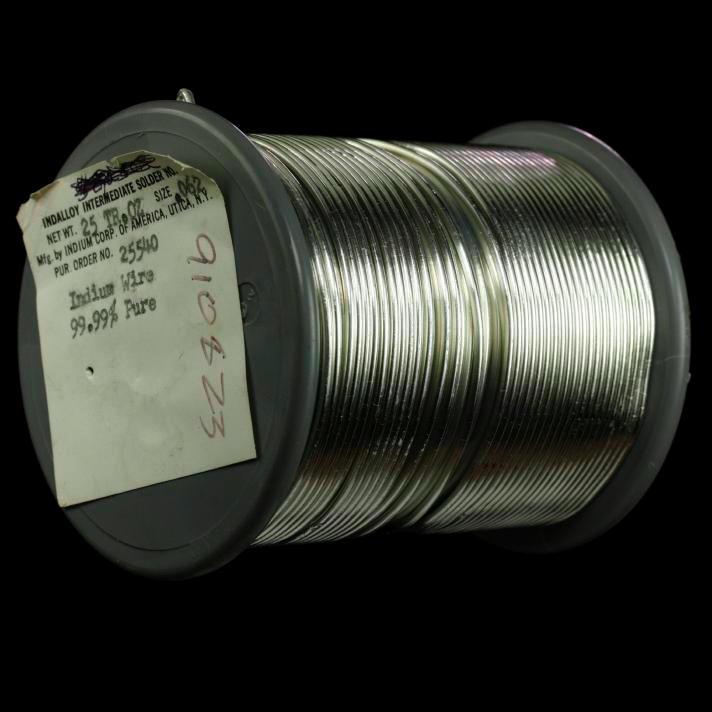Indium Spool of indium wire