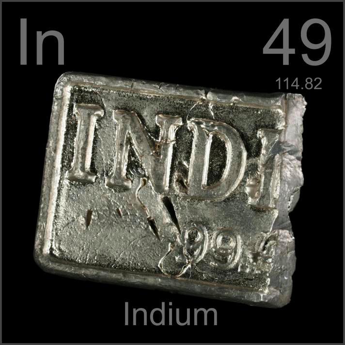 Indium Cut ingot
