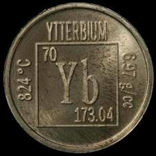 Ytterbium Element coin