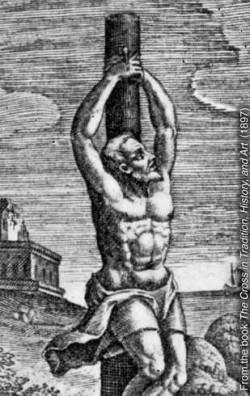 Crux simplex (απλός σταυρός)—ο λατινικός όρος που περιγράφει τον πάσσαλο ο οποίος χρησιμοποιούνταν για το κρέμασμα ενός εγκληματία