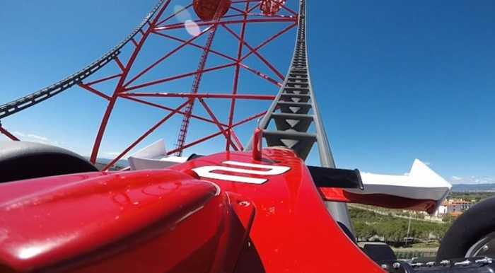 """""""Κόκκινη δύναμη"""": Το γρηγορότερο και ψηλότερο τρενάκι λούνα παρκ της Ευρώπης!"""