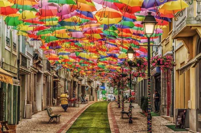 Οι πολύχρωμες ομπρέλες στον ουρανό της Καρδίτσας!