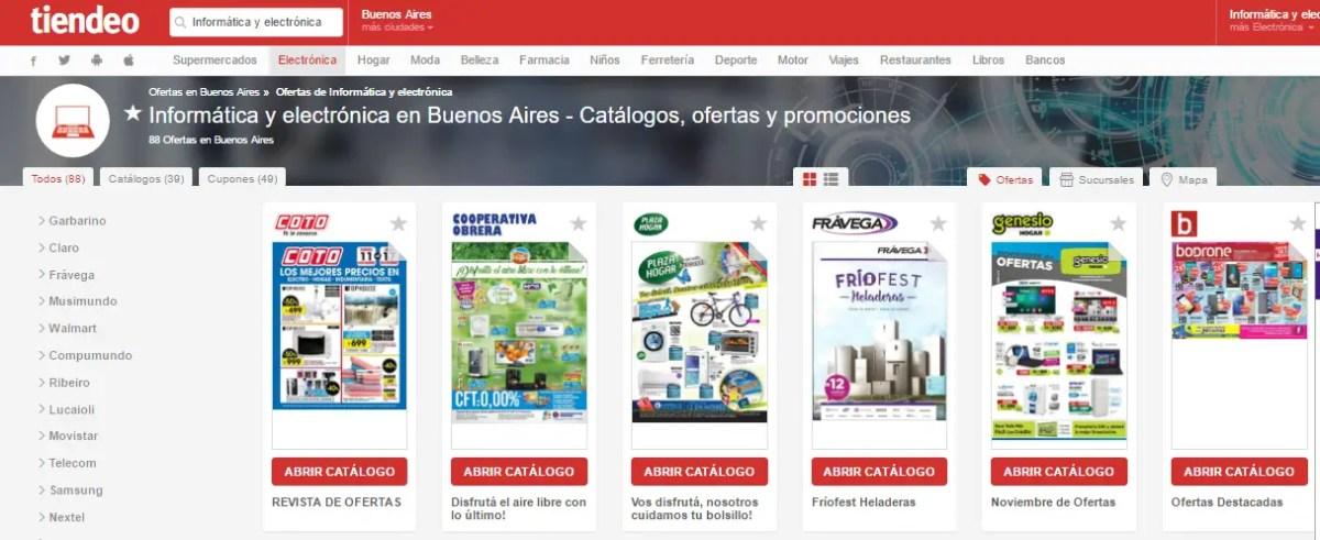 e1169752 Para facilitar esta tarea existe Tiendeo, una aplicación gratuita que  muestra las ofertas y catálogos online de los principales retailers de  Argentina, ...