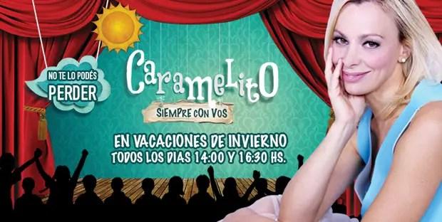 """25- A partir del 14 de julio, Cecilia """"Caramelito"""" Carrizo junto al actor Diego Alcalá presentarán en el Teatro Astros """"Caramelito siempre con vos"""", un show que promete diversión, entretenimiento y ternura para los más chiquitos. Todos los días a las 14 y las 16.30 en el Teatro Astros (Corrientes 746)."""