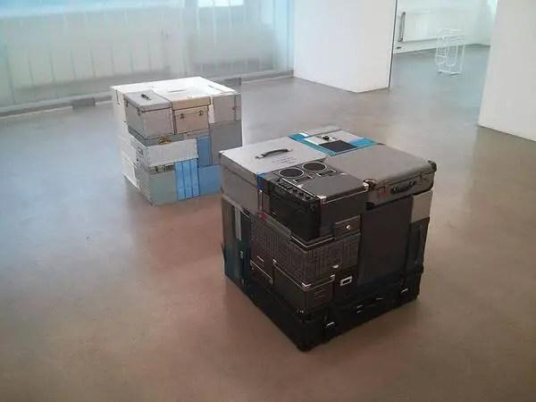 Valijas ordenadas de una forma muy particular