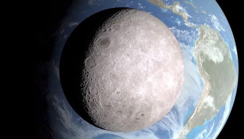 El lado oscuro de la Luna - NASA's Scientific Visualization Studio