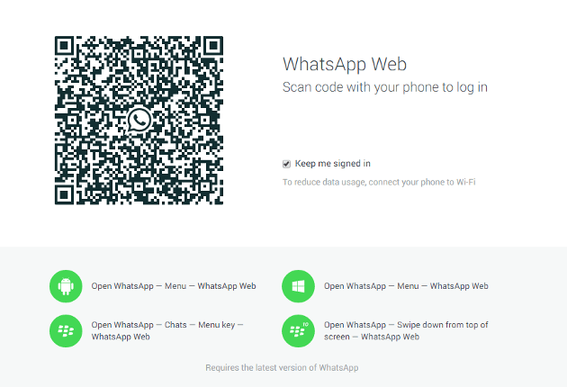 WhatsApp para la web