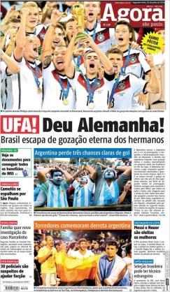 """""""Alemania dió. Brasil zafa de la gastada eterna de sus hermanos"""""""