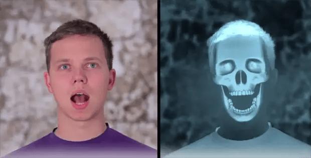 Con simples clics se puede hacer que la cara de uno parezca de un esqueleto.