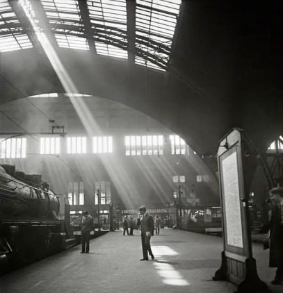 Rayo de luz sobre la estación de Berlín.