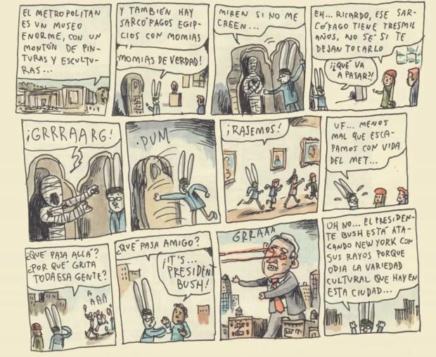 Una de las ilustraciones de Liniers publicadas en The New Yorker