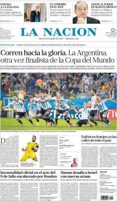 """""""Corren hacia la gloria. La Argentina otra vez finalista del mundo"""""""
