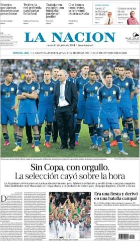 """La Nación: """"Sin copa, con orgullo"""""""