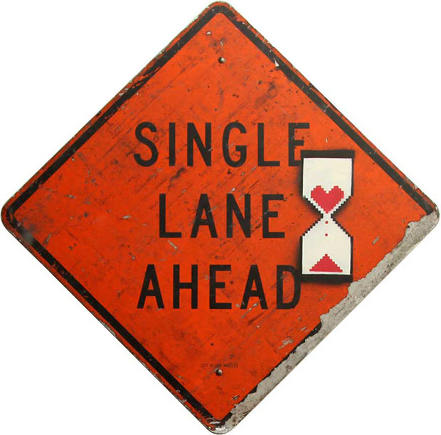 single lane ahead