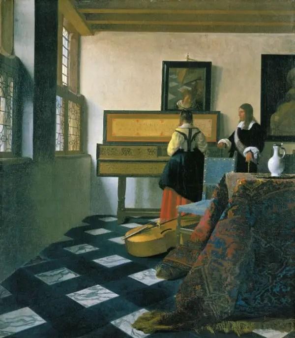 La lección de música (1662-66), una de las obras cumbres de Johannes Vermeer