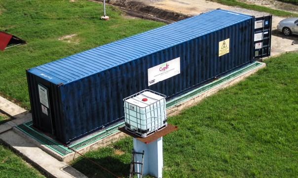 Planta de tratamiento compacta, ensamblada por TECOFIL para el tratamiento de aguas residuales