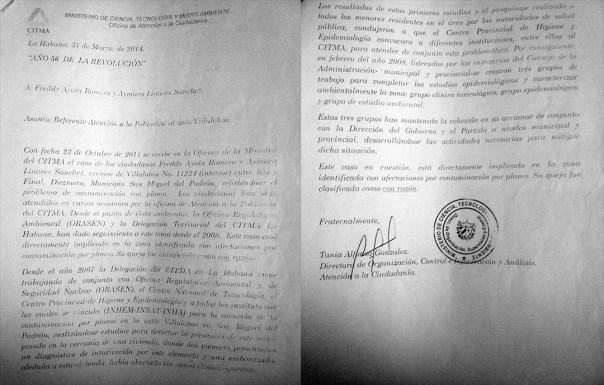Documento de CITMA que conserva Aymara Linares (Foto: Mónica Baró)
