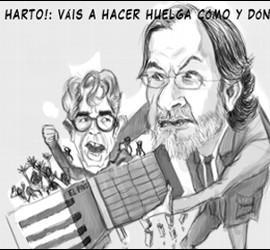 Caricaturas de Javier Moreno y Juan Luis Cebrián.