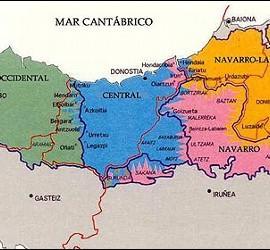 País Vasco, Navarra y el mapa del euskera.