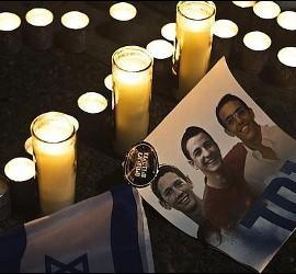 Los israeliés Eyal Yifrah, de 19 años y residente en Elad (Israel); Gilad Shaar, de 16 y residente en Talmon (Cisjordania) y Naftali Frenkel.