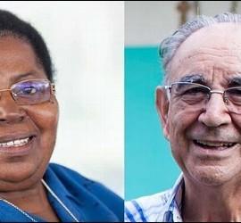 Juliana Bonoha Bohé y el religioso Miguel Pajares.