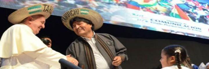 FRancisco saluda a Evo, ante los movimientos populares en Bolivia