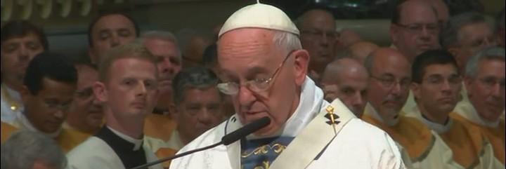 El Pap, en la catedral de Filadelfia