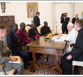 El Papa, con los líderes religiosos de Sudán del Sur