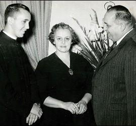 Bergoglio y sus padres