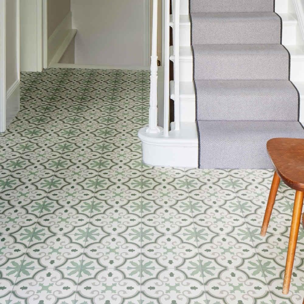ca pietra moroccan impressions porcelain amina green floor and wall tile