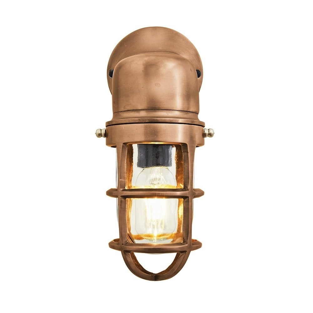 Vintage Industrial Cage Bulkhead Wall Light Sconce with ... on Vintage Wall Sconces id=27356