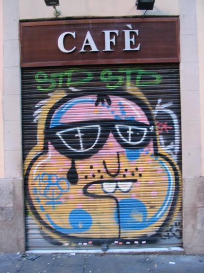 Barcelona grate art