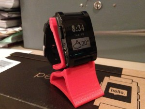Pebble watch stand