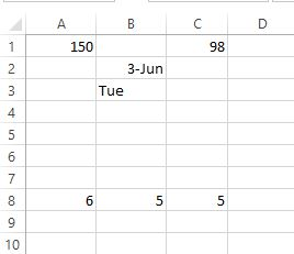 Excel change on Date Example
