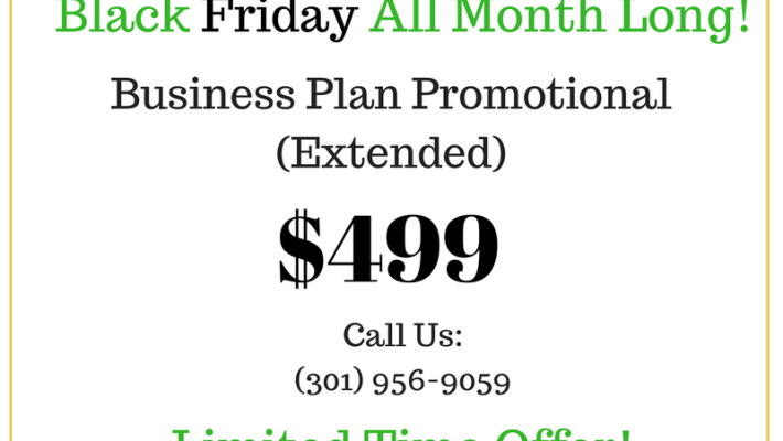 Business Plan Promotional (Black Friday All Month Long)