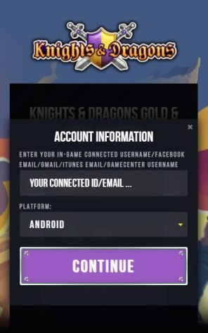 Knights & Dragons Gold Gems Generator 2