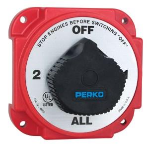 Perko 8603D Heavy Duty Dual Battery Switch wAlternator Disconnect | eBay