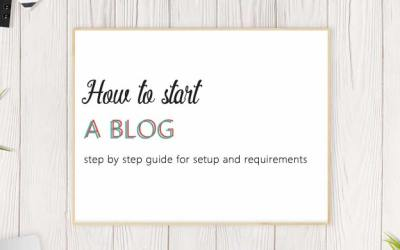 How to start a blog : step by step guide for setup and requirements