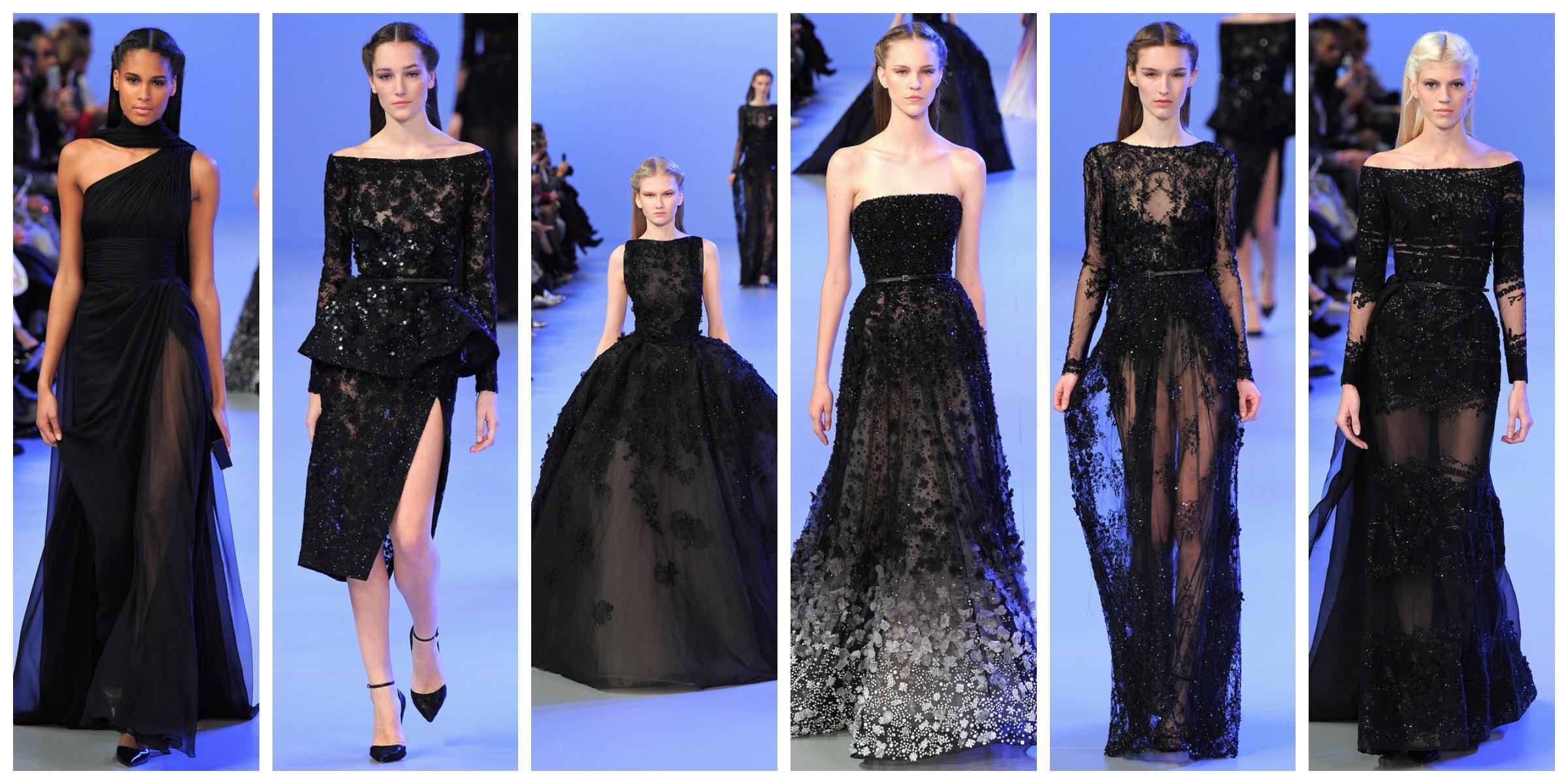 black couture elie saab