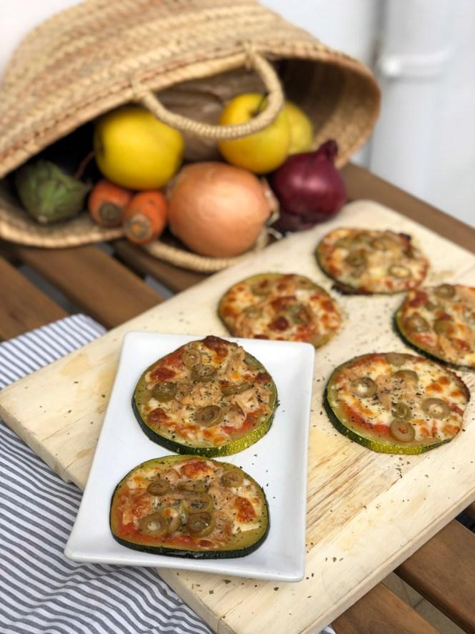 Las mini pizzas de calabacín