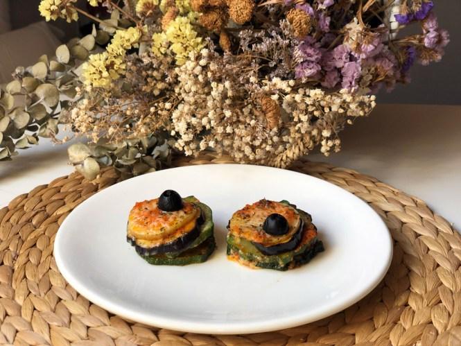 Receta timbal de verduras con Lekue