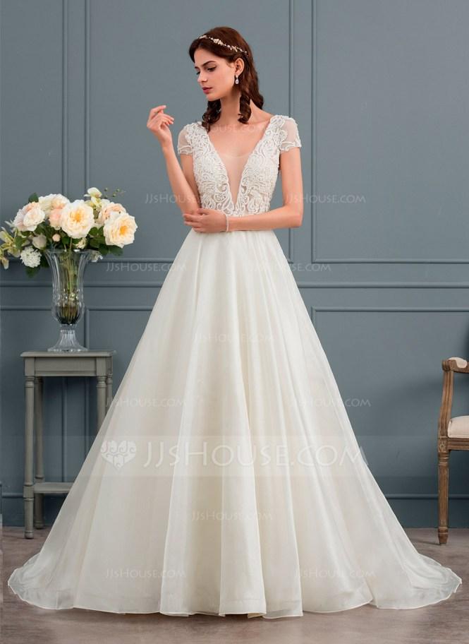 Vestido novia corte princesa