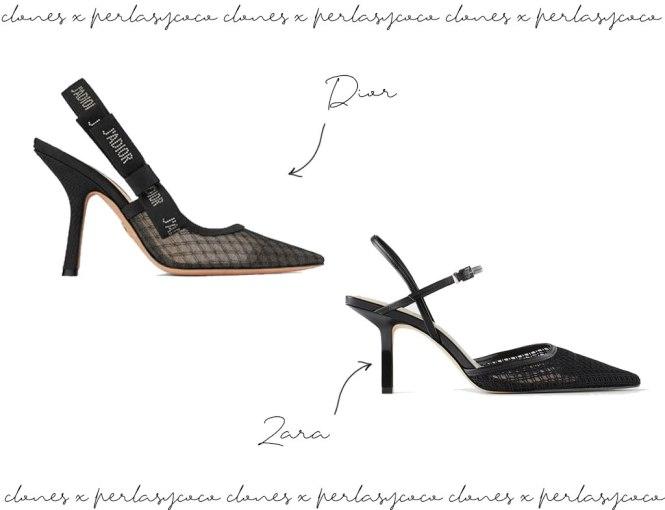 Clones: Zapatos J´Adior y Zara