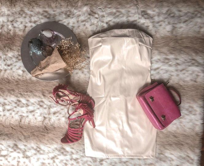 Vestido polipiel de Femme Luxe