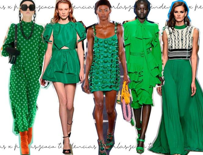 Pasarela tendencias SS20 Color verde esperanza