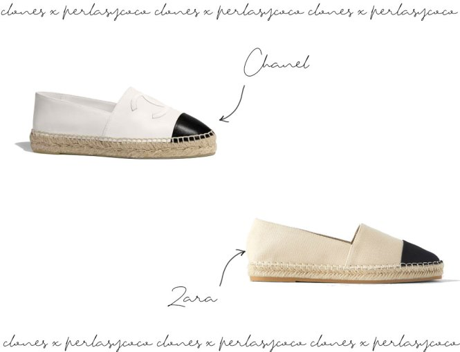Alpargatas Chanel vs Zara