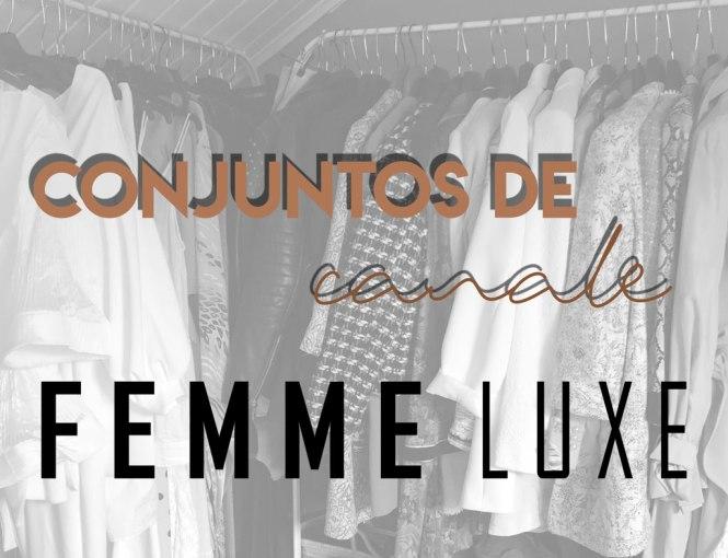 Conjuntos de canalé de Femme Luxe.