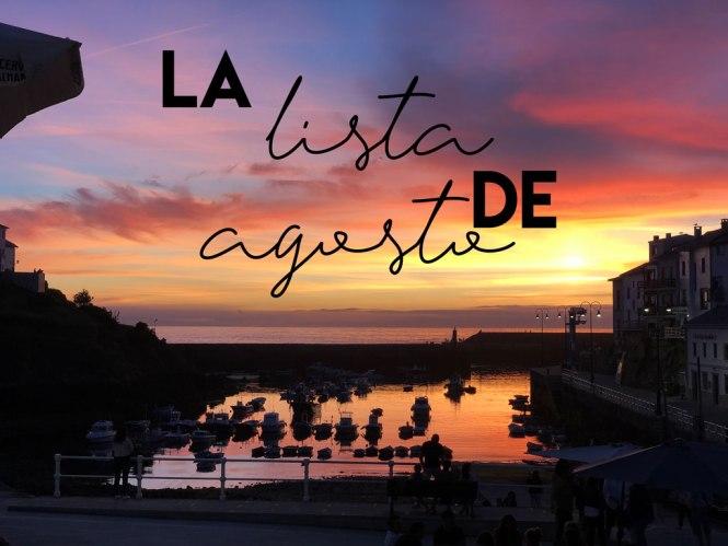 La lista de agosto - Recomendaciones para Tapia de Casariego